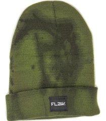 gorro de lana beanie epic tie dye verde flaw
