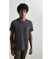 camiseta crepe bolsinho reserva preto - preto - masculino - dafiti