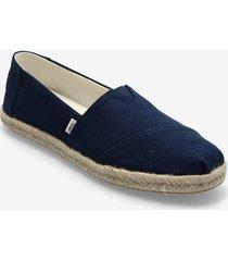 navy slubby woven sandaletter expadrilles låga blå toms