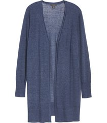 plus size women's halogen long cardigan, size 3x - blue