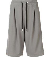 giorgio armani mesh track shorts - grey