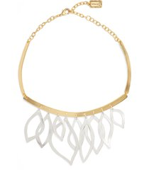 karine sultan two-tone frontal necklace in silver/gold mix at nordstrom