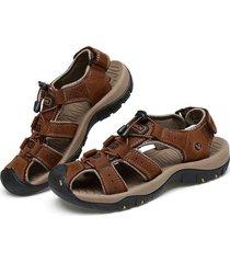 sandalias de verano zapatos de playa sandalias para hombres zapatos de cuero de primera capa para hombres