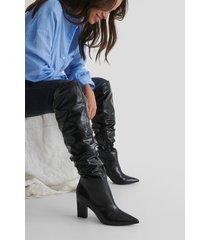 na-kd shoes vida höga stövlar - black