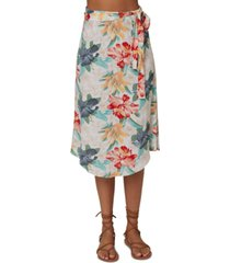 o'neill juniors' gracia floral-print wrap skirt