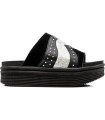 sandalia negra kandil calipso plataforma moda
