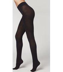calzedonia eco q-nova 80 denier opaque tights woman black size 4