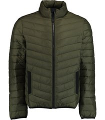 bos bright blue tony short puff jacket 21101to02sb/368 l.olive