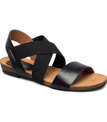 biacallie leather sandal shoes summer shoes flat sandals svart bianco
