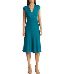 cross-back merino wool dress