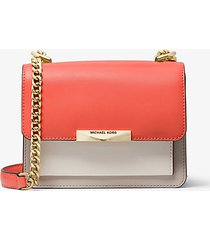 mk borsa a tracolla jade extra-small in pelle tricolore - pnkgrpft mlt - michael kors