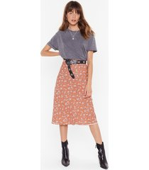 if you grow me floral midi skirt