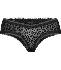 v-shape brasilian animal flock trosa brief tanga svart hunkemöller