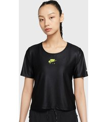 polera nilke w nk air top ss negro - calce regular