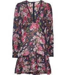 delicate semi mini dress kort klänning multi/mönstrad by ti mo
