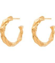 hermina athens full moon hoop earrings - gold