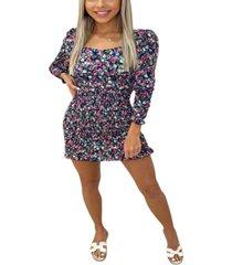 ax paris women's floral printed sheer bodycon dress