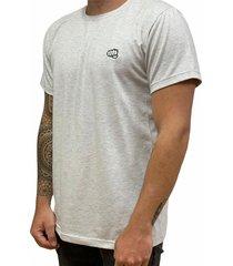 camiseta básica small logo gris fist hombre
