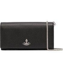 vivienne westwood jordan long-chain purse - black