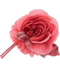 alessandra rich broche de flor em seda - rosa