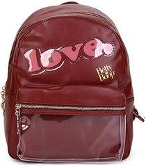 mochila escolar infantil betty boop love feminina - feminino