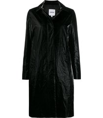 aspesi plastic-bag coat - black