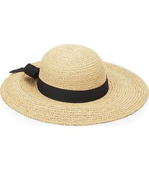 raffia ribboned sun hat