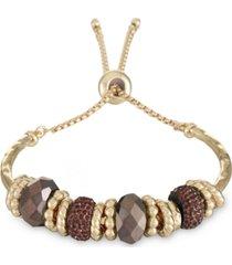 style & co beaded slider bracelet, created for macy's