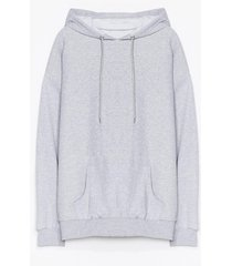 womens the wait is over-sized plus hoodie - grey