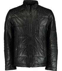 dnr leren jas zwart regular fit 52180 859/99