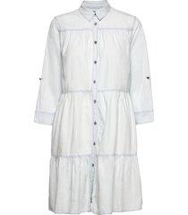 dress knälång klänning vit replay