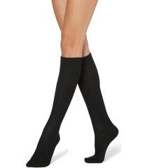 calze lunghe a coste con lana e cashmere