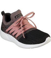 tenis negro-rosado skechers bobs sport sparrow - sneaker club 32709bkpk con envio gratis