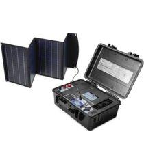 wagan solar power case with 800 watt power inverter with 60 watt foldable solar panel