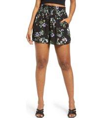 women's afrm lora tie waist shorts, size medium - black