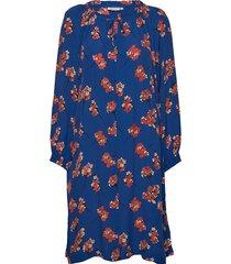 noga dress jurk knielengte blauw masai