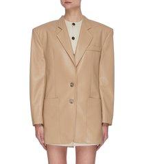 'evan' vegan leather blazer