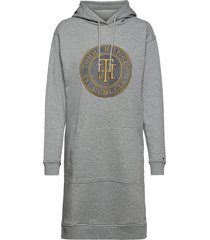 regular th hoodie dress ls hoodie trui grijs tommy hilfiger