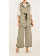 colete iódice alongado com bolsos feminino - feminino