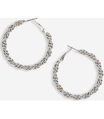*rope twist hoop earrings - silver