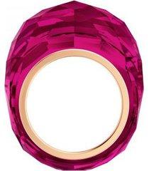 anillo swarovski nirvana, rojo, tono de oro rosa pvd 5508718