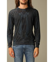 etro sweater etro sweater in silk and paisley chasmere