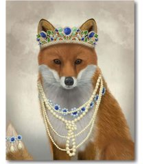 "courtside market fox with tiara portrait gallery-wrapped canvas wall art - 16"" x 20"""