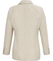 blazer met lange mouwen en 3-knoopssluiting van anna aura beige