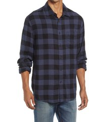 rails indigo buffalo check flannel button-up shirt, size xx-large at nordstrom