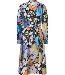 reflection, 1079 silk twill jurk knielengte multi/patroon stine goya
