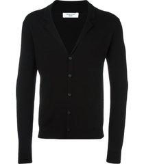 fashion clinic timeless v-neck cardigan - black