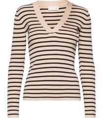 nap v-neck t-shirts & tops long-sleeved multi/mönstrad storm & marie