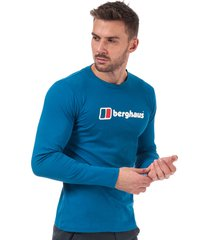 mens big corp logo long sleeve t-shirt
