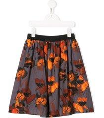 andorine floral print skirt - grey